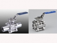 3 PC Ball Valve With ISO 5211 Mounting Pad